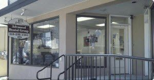 Front doors to Advanced Dental Group's Doylestown dentist office